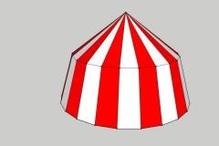 round medieval tent