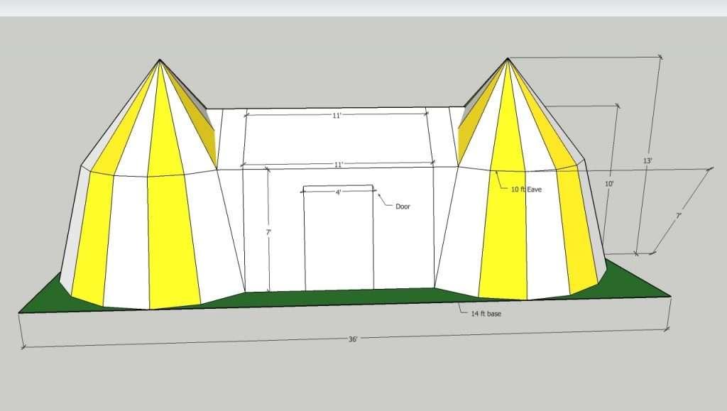 tudor or henry king v111 tent cad vector